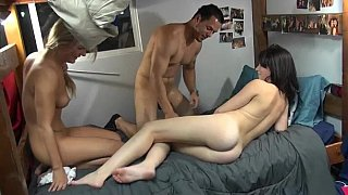 College girls fucking their mates in a dorm