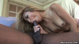 Lana Croft takes a big black cock anally