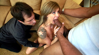 Chloe Chaos sucks huge penis in front of her hubby