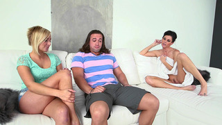 India Summer wants to have a 3some with her stepdaughter Kate England and her bf