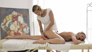 Teen receive massage after hard day