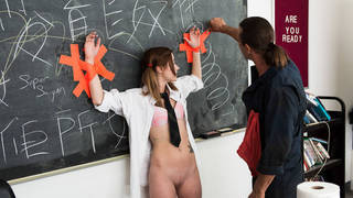 Slutty student fuck the Janitor