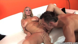 Hot busty blonde Tammy gets boned by muslced stud