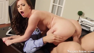 Hot secretary Casey Calvert pleasures Ramon Nomar