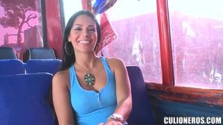 Latina girl Natasha picked up for her big tits