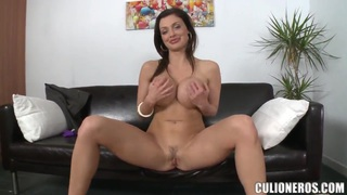 Busty pornstar Aletta Ocean spreads to be fucked