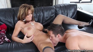 Lucky Johnny Castle found his ftiend's mom Deauxma alone and really horny
