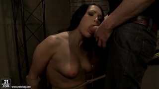 Woman with gorgeous body is getting punished