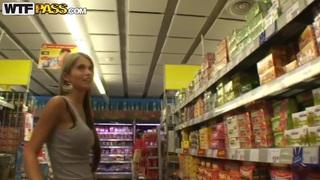 Blonde gal Nessa Devil on a shopping trip