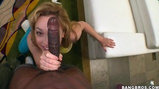 All natural sweet Lily Labeau takes big black cock