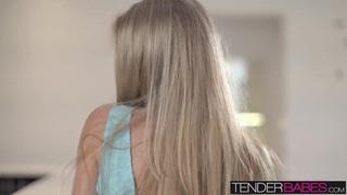 Sexy passionate session of solo masturbation with Angelica