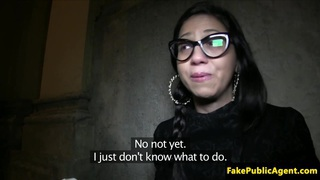 Real cocksucking spanish babe creampied
