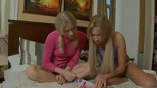 Two Russian Teens In A 3some