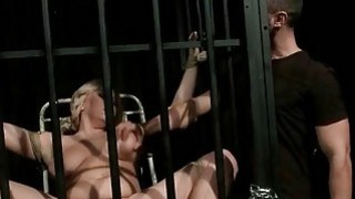 Sexy busty slavegirl gets punished