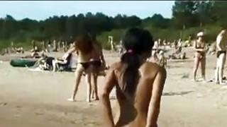 Naked 19yo Walking Around The Beach