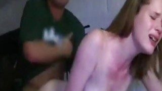 Amateur college girl fucks in dorm room
