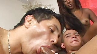 Beauty is having joy with two bisexual males