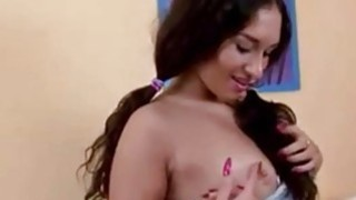 brunette sexy teen masturabtion at home