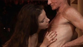 Shameless young girl fucking married old man