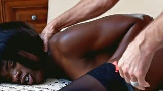 Horny ebony Ana Foxxx fucked real deep
