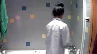 My niece uwaware of bathroom spy cam