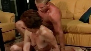 Old pussy fucked by young cock