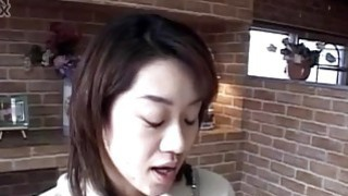 Yuki gets a lot of cum in mouth from sucking