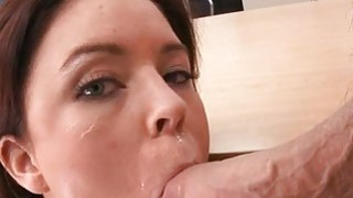 Older babe is sucking dudes cock hungrily