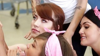 college girls fuck creepy guy sniffing panties
