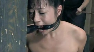 Masked beauty with exposed muff receives thrashing