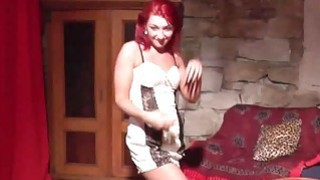 Redhead lapdancer gets licked and fucked