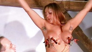 Busty amateur bdsm of screaming milf Gina in harsh