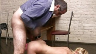 Girl is delighting old tutors hard male wang