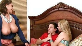 MILF Eva Notty amazing threesome action with young couple