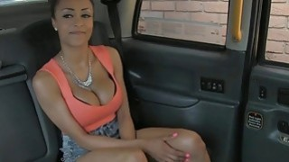 Super big tits amateur passenger fucked by fake driver