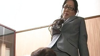 Corporate big ass Asian bitch getting doggy style