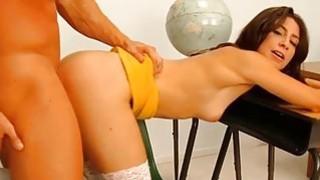 Teen enjoys a suck and a sexy cumhole pounding