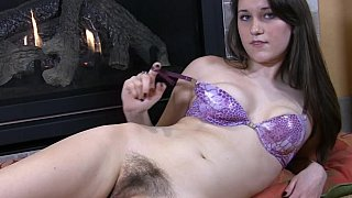 Cute hairy teen home alone