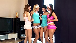Teenage foursome