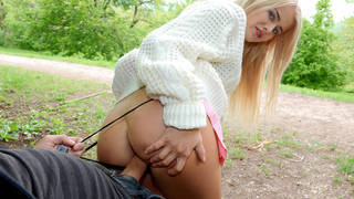 College girl fuck for money in public area