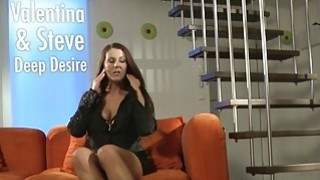 Busty mature lady bangs dude on the sofa