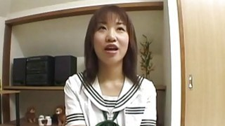 Mayu with big cans strokes cock