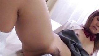 Nozomi blows cock before sliding it in her vag