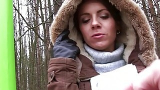Eurobabe railed by stranger in the woods