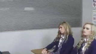 Pussy licking party in classroom