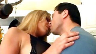 Anal fuck from blonde woman of natural tits