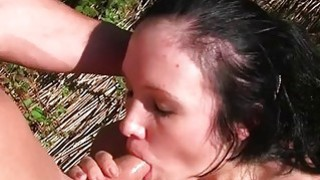Wild insatiable college girls fuck on a picnic