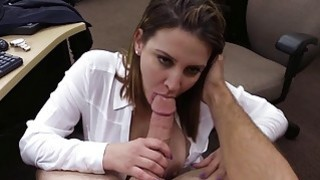 Busty woman pawns her pussy and fucked