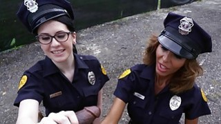 Lyla Lali and Norah Gold Take BBC on Patrol Car