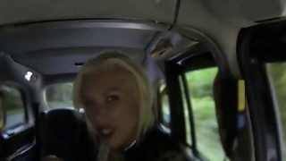 Huge boobs blonde passenger screwed hard in the backseat